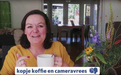 Kopje koffie en cameravrees